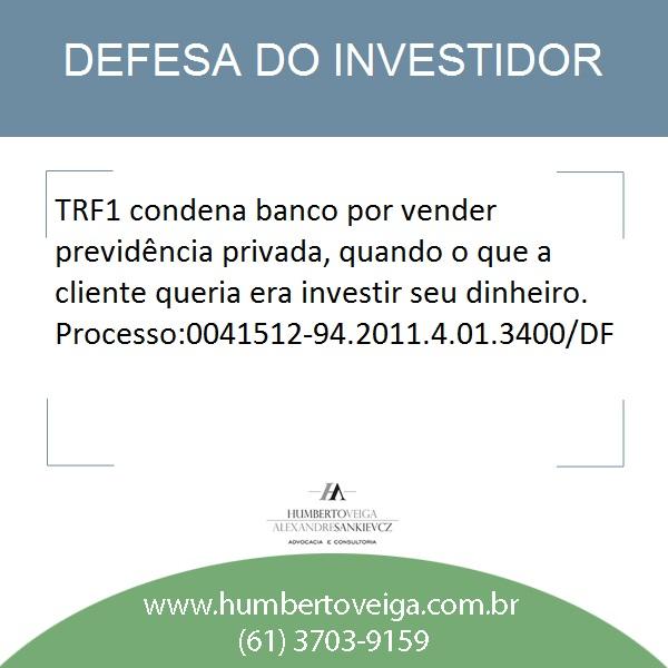 previdencia privada investimento condenação